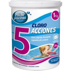 CLORO 5 ACCIONES MINIPISCINAS