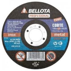 DISCO ABRASIVO CORTE INOX-METAL BELLOTA