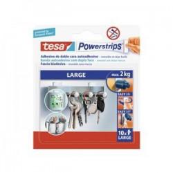 TESA POWERTRIPS LARGA MAX. 2 KG. E/10 UNID.